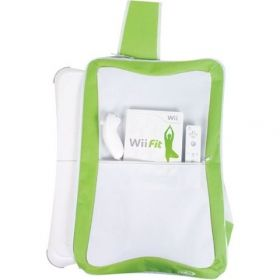 Padded Green & White Mono Strap Carry Bags x 60