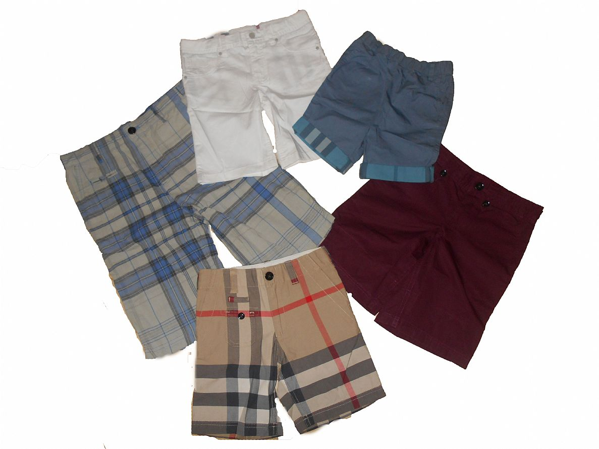 Joblot of 10 Boys Burberry Assorted Shorts