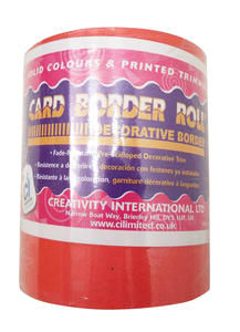 One Off Lot of 40 Card Border Rolls Red Fade-Resistant Decorative Craft Borders