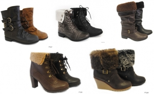 Wholesale clearance job lot of 60 Ladies mixed fashion boots