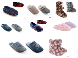 Wholesale Job Lot of 192 Slippers Mixed styles & sizes for Adults & children