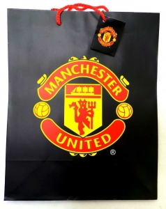 Joblot of 72 Gift Bags Manchester United Football Club Themed Coated Paper