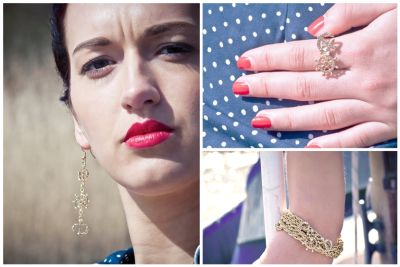 Gold Plated Nautical Fashion Jewellery Matching Rings, Necklaces, Bracelets, Earrings & Hairslides