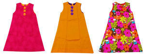 Joblot of 10 Brit Chic Dresses Kids Various Colours/Patterns Vivid Colour Girls
