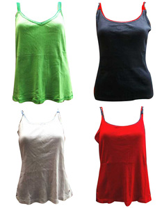 Joblot of 10 Tommy Hilfiger Ladies Vest Tops Simple 4 Colours Crochet Detailing