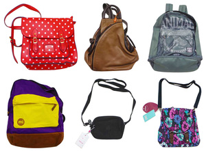 One Off Lot of 8 Assorted Bags Various Brands/Styles Rucksacks Shoulder Bags etc