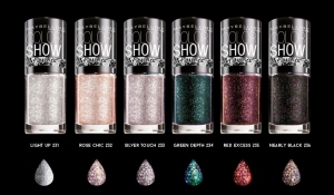 Parcels of 201 Mixed Maybelline Colorshow Crystallize Nail Polish