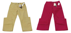 Joblot of 5 Pairs Timberland Mens Chinos Straight Leg Red & Sand Various Sizes