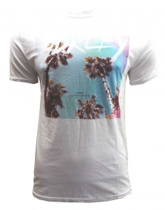 One Off Joblot of 5 Mens Hurley De-Branded White California Dreaming T-Shirts