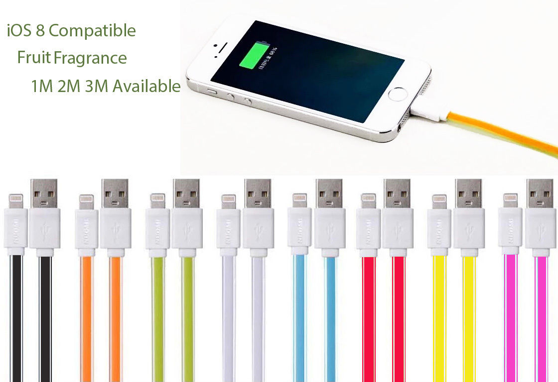80 × 2m Cables for iPhone 5 5S 6 Plus iPad Air Mini