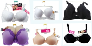 Joblot of 100 Assorted Bras Maidenform Range of Styles Sizes Colours Fits etc.