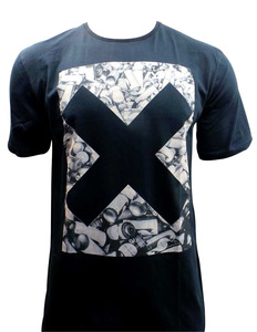 One Off Lot of 7 DC T Shirts Mens Black 'X' Cross Design Various Sizes