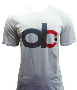 One Off Lot of 5 DC T Shirts Mens White 'dc' Slogan Design Various Sizes