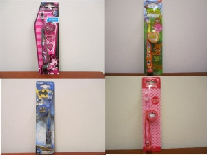 240 x Kids Toothbrushes Bat Man/Hello Kitty/Moshi Monsters/Monsters High