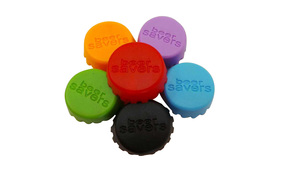 One Off Lot Of 20 Beverage Saver Bottle Caps In Assorted Colours