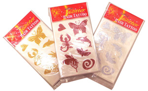 One Off Lot of 996 Hair Tattoo Packs Red/Gold/Silver Glitter Girls Fashion