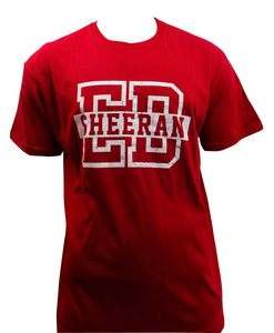 One Off Lot of 10 Ed Sheeran T Shirts Red White Capital Collegiate Unisex