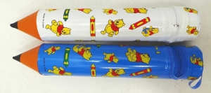 One Off Lot of 73 Pencil Cases Novelty Pencil Shaped Cartoon Bear Designs