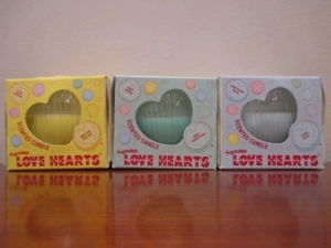 Job Lot of 160 Love Heart mixed 85g Clearance Scented Candles