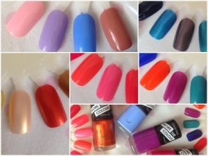Clearance parcels of 180 x mixed Collection -Work The Colour Nail Polish