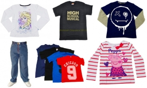 Wholesale Joblot Of 50 Mixed Childrens T-shirts, Jumpers and Trousers