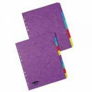 One Off Joblot Of 260 Duo Dividers A4 Assorted Colour Extra Wide 5 part JT57599