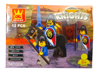 Joblot of 17 Building Brick Sets Wange 'Knights' Medieval Theme Kids 40306