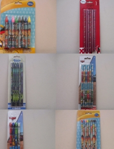 Clearance parcel of 200 Disney Mixed Crayon and Pencil Sets (6- styles)