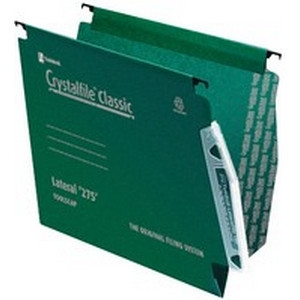One Off Joblot Of 100 Crystalfile Classic Green Lateral Files TW78652