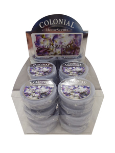 Wholesale Joblot Of 96 Colonial Homescents Hydrangea Wax Melts With Display Box